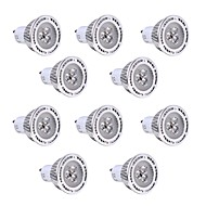 10pcs YWXLight GU10 3W SMD 3030 300-400 LM Warm White / Cool White  LED Spotlight AC 85-265V