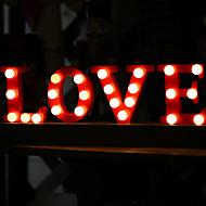 varm hvid 20-ledede kærlighed ordet natlys