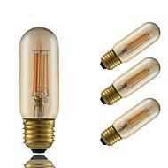 GMY® 4W E27 LED Filament Bulbs T30 4 COB 350 lm Amber Dimmable Decorative AC 220-240 V 4 pcs