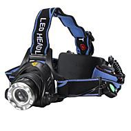 פנסי ראש LED 2000 Lumens 3 מצב Cree XM-L T6 18650 גודל קומפקטימחנאות/צעידות/טיולי מערות שימוש יומיומי רכיבה על אופניים ציד רב שימושי