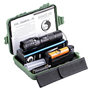 U'King ZQ-X1077G-US G7000 5Modes Zoomable Multifunction Flashlight Torch Kit Green Light