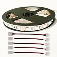 Z®ZDM 5M 72W 300PCS 5050 5Red 1Blue/Group LED Plant Light strip With 4PCS 5050 Connector DC12V