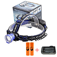 U'King® ZQ-X837BL#7-US CREE XML T6 Zoomable 180 Rotate 3Modes Headlamp Bike Light Kits with Rear Safety LED