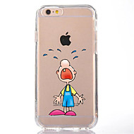 For iPhone 7 Cartoon Boy TPU Soft Ultra-thin Back Cover Case Cover For Apple iPhone 7 PLUS  6s 6 Plus SE 5s 5 5C