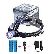 Pandelamper LED 2000 Lumen 3 Tilstand Cree XM-L T6 18650 Justerbart Fokus Komapkt StørrelseCamping/Vandring/Grotte Udforskning Dagligdags