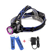 U'King® ZQ-X804#1-US CREE XM-L T6 2000LM 3Modes Zoomable Headlamp Kit Purple Head