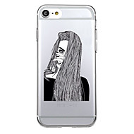 For Ultra-thin Transparent Case Back Cover Case Sexy Lady Soft TPU for iPhone 7 Plus  7  6s Plus 6 Plus  6s 6 se 5s 5