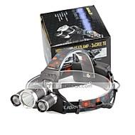 Lampes Frontales LED 4000 Lumens 4.0 Mode Cree XP-G R5 Cree XM-L T6 18650 Taille CompacteCamping/Randonnée/Spéléologie Usage quotidien