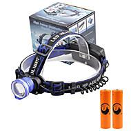 Lampes Frontales LED 2000 Lumens 3 Mode Cree XM-L T6 18650 Faisceau Ajustable Taille CompacteCamping/Randonnée/Spéléologie Usage