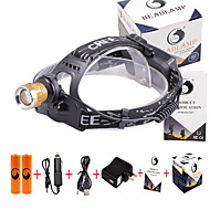 U'King® ZQ-X839GO#6-US 2* CREE XPE Natural/ UV Purple 4Mode Zoomable Multifunction Headlamp Bicycle Light Kit