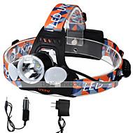 Stirnlampen LED 6000 Lumen 4.0 Modus Cree XM-L T6 - 18650Camping / Wandern / Erkundungen Für den täglichen Einsatz Radsport Jagd Reisen
