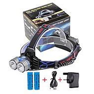 Hodelykter LED 4000 Lumens 3 Modus Cree XM-L T6 18650 Kompaktstørrelse Nødsituasjon mobile strømforsyningCamping/Vandring/Grotte