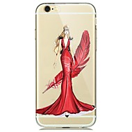 For Transparent Case Back Cover Case Sexy Girl Soft TPU for Apple iPhone 7 Plus/iPhone 7/iPhone 6s Plus/iPhone 6s/ iPhone 5