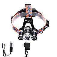 Linternas de Cabeza LED 4000 Lumens 4.0 12 Modo Cree XP-G R5 Cree XM-L T6 18650.0 Enfoque Ajustable Tamaño Compacto Zoomable