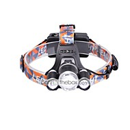 U'King® ZQ-G808USBS 3 * CREE XML-T6 6000LM 4Mode Zoomable Headlamp Micro USB Charging Version
