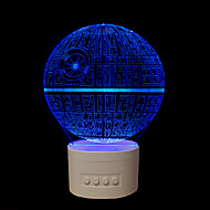 1 PC The Five Colours Original Household Gifts  Bluetooth Audio knob-Operated Control 3D Night Lamp