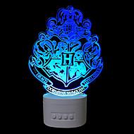1 PC los cinco colores originales del hogar bluetooth de audio de control de perilla de control 3d noche lámpara