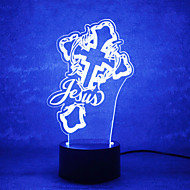 Christmas GOD Touch Dimming 3D LED Night Light 7Colorful Decoration Atmosphere Lamp Novelty Lighting Christmas Light