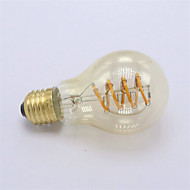1pcs Dimmable A19 E27 New Design Soft LED Filament 4W LED Vintage Lamp Bulb Spiral Edison Bulb Commercial Light Bulb 220-240V