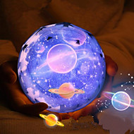 1stk magi projekt lampe diamant form nightlight førte stjerne projektor 3 farveskiftende usb opladning bedside nat lys projektor