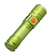 LED손전등 LED 루멘 3 모드 Cree XM-L T6 컴팩트 사이즈 작은 사이즈 캠핑/등산/동굴탐험 일상용 사이클링 멀티기능 등산 야외 알루미늄 합금