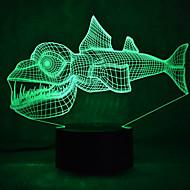 Рождественские рыбы сенсорный затемнения 3D привело ночник 7colorful украшения атмосферу лампа новизны освещения Рождественский свет
