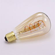 1pcs Dimmable ST64 4W Led Soft Filament Light Vintage Spiral Lamp 2300K Flexible Filament LED Bulb for Bar Home Decorate 220-240V