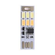 1pcs brelong usb dimmerabile 3W 6x5730 tocco doppio interruttore luce llight colore notte (DC5V)