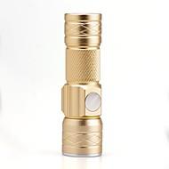 LED Lommelygter LED Lumens 3 Modus Cree XP-E R2 Justerbart Fokus Oppladbar Kompaktstørrelse Liten størrelseCamping/Vandring/Grotte