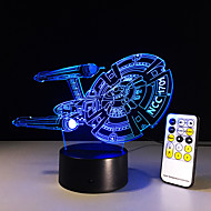New 3D Battleship Spacecraft LED illusion Mood Lamp Bedroom Table Lamp night light Bulbing Child Kids Friends Man Family Gifts