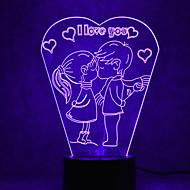jul kærlighed touch-dæmpning 3d førte natlys 7colorful dekoration atmosfære lampe nyhed belysning christmas lys