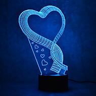 クリスマスの愛タッチの調光3d led夜の光7colorful装飾雰囲気のランプノベルティ照明クリスマスライト