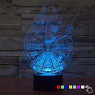 1Pcs   7Color Change 3D Night Light Led Lamp Millennium Falcon Led Lighting Home Decor Table Lamp Nightlight For Kid