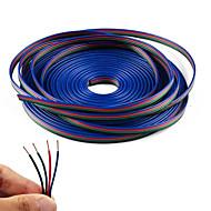 4 cable de extensión del rgb del color 20m línea para la tira llevada rgb 5050 3528 cable 4pin