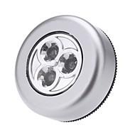 førte touch-natlys 3leds ledningsfri pind hanen garderobe touch-lampe mini væglampe kabinet lys uden batterier