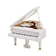 Music Box Music Classic & Timeless Glass Plastic White
