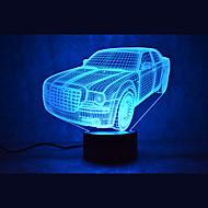 Natale auto tocco LED dimming 3D la luce di notte della lampada 7colorful atmosfera decorazione di illuminazione novità luce di natale
