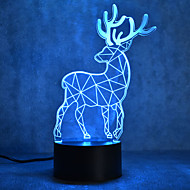 joulu milu hirvieläinten kilpikonna kosketa himmeneminen 3D LED yövalo 7colorful koristeluun ilmapiiri lamppu uutuus valaistus Joulun valo