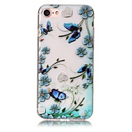 For IMD Embossed Case Back Cover Case Butterfly Soft TPU for iPhone 7 Plus 7 6s Plus 6 Plus  6s  6 SE 5S 5