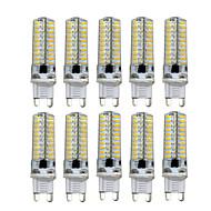 HKV® Dimmable G9 G4 G8 GY6.35 E11 5W 80LED 4014SMD 400-500Lm Warm White Cool White LED Bi-pin Lights AC 110V / AC 220V 10 pcs