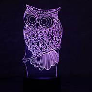 christmas pöllö kilpikonnia kosketa himmeneminen 3D LED yövalo 7colorful koristeluun ilmapiiri lamppu uutuus valaistus Joulun valo