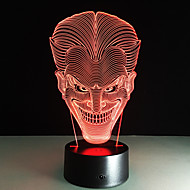 Souriant visage jack coloré 3d conduit nuit lumières acrylique lampe tactile gradient visuel stéréo lampe enfants cadeau pour la fête