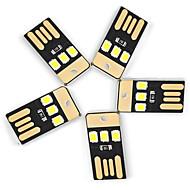 Ywxlight® 5pcs 0.5w 3led 5v 2835smd 22lm usb ledede pærer for laptop pc power bank hvite lys mini lommelykt