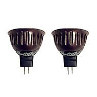 3W GU5,3(MR16) LED-kohdevalaisimet 1 COB 250 lm Lämmin valkoinen V 2 kpl