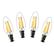 ® Shenmeile 4.5W E14 LED Candle Lights C35 6 COB 500 lm Warm White Decorative AC 220-240 V 4 pcs