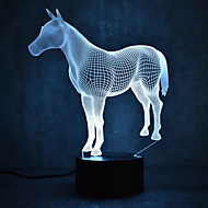 Christmas Horse Turtles Touch Dimming 3D LED Night Light 7Colorful Decoration Atmosphere Lamp Novelty Lighting Christmas Light