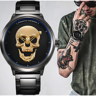 Punk 3D Skull Retro Sport Watch Fashion Watch Bracelet Watch Unique Creative Watch Men Waterproof 30m Steel Stainless Quartz Watch Relogio Masculino