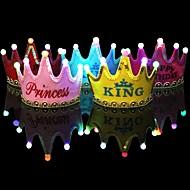 1pcs luminous prowadzić księżyc księżniczka szczęśliwy urodziny strona dekoracje korona prowadzić dzieci urodziny kapelusz święto