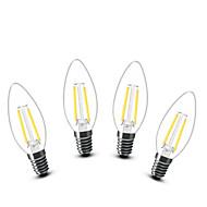 2W E14 LED Candle Lights C35 2 COB 200 lm Warm White Decorative AC 220-240 V 4 pcs