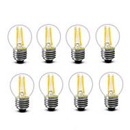 3.5 E14 E27 Lampadine LED a incandescenza G45 4 COB 400 lm Bianco caldo Decorativo AC220 AC230 AC240 V 8 pezzi